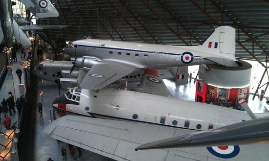 Royal Air Force Museum: Inside the coldwar hangar.