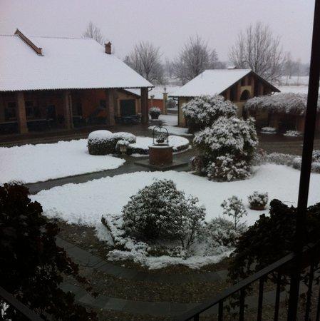 Robecco sul Naviglio, Italien: Neve