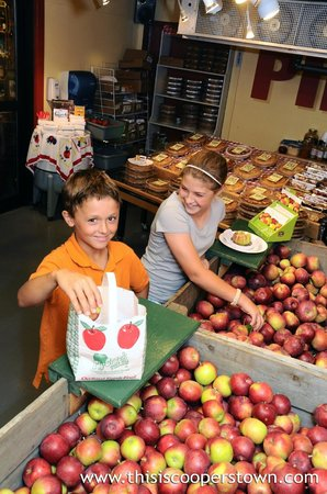 Fly Creek Cider Mill & Orchard: Pay-your-own apples in the Fly Creek Cider Mill's Apple Room