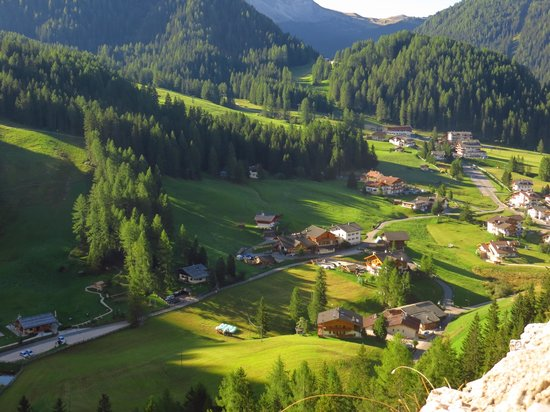Hotel Val: view of hotel property from Castle runins