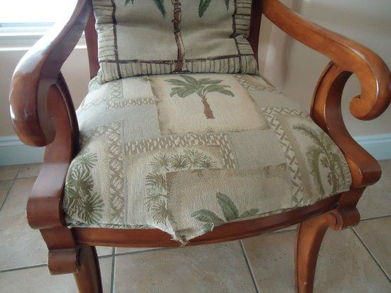 Gulf Crest: This Is One Of 3 Chairs That The Stuffing Was Coming Out Of