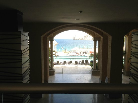 Casa Dorada Los Cabos Resort & Spa: View from lobby as you walk into the hotel