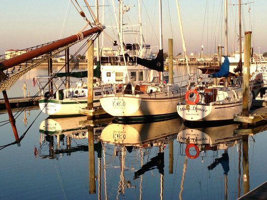 Early morning along the Town Docks in Beaufort, North Carolina