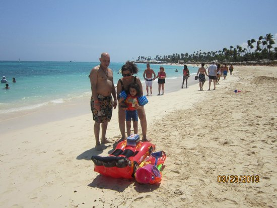 Iberostar Bavaro Suites: A beach picture with our grandson.