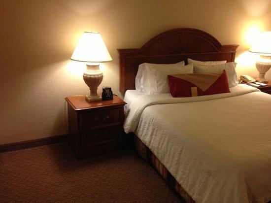 Hilton Garden Inn Phoenix Midtown: old lamps on night stands-- no plugs!