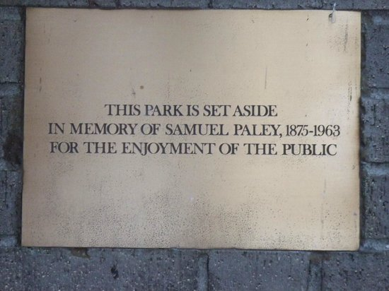 Paley Park Plaque (try saying that fast 3 times)