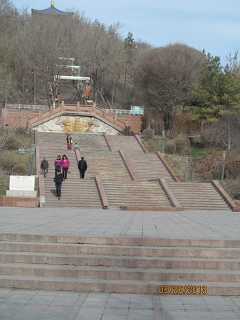 Red Hill: steps to the top...a long way