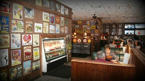 Henry's Casual Cafe: Booths and Vintage Signs