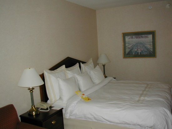 Columbus Marriott Northwest : Comfortable bed with outstanding selection of pillows