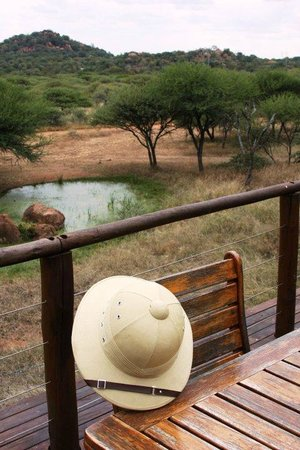 Thaba Khaya Lodge, Sable Ranch: View from the Lodge deck