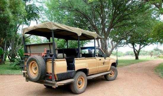 Thaba Khaya Lodge, Sable Ranch: Our Safari vehicle