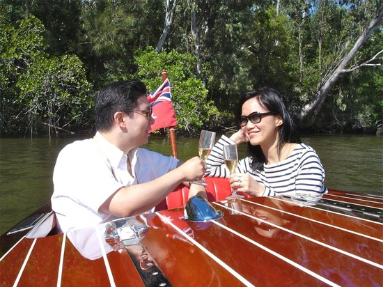 Noosa Dreamboats Classic Boat Cruises: Celebrate with someone special on a private classic boat tour of Noosa