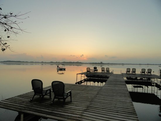 Lamanai Outpost Lodge: New Lagoon from dock