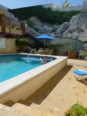 Las Gaviotas Resort: Lovely mural by the pool