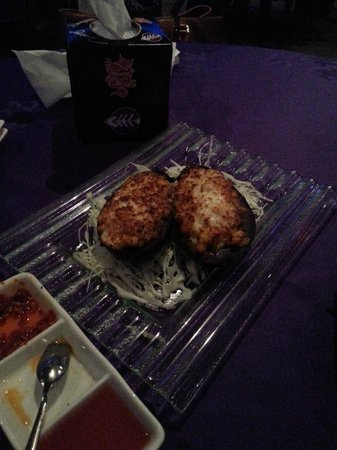 Gulf Royal Chinese Restaurant : Backed Eggplant stuffed with Cheese and shrimp..didn't like it!