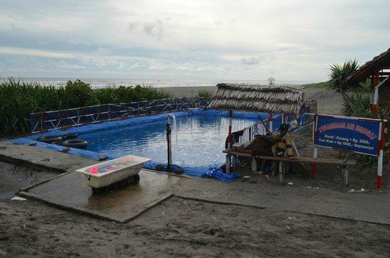 Parangtritis Beach: warm modified natural pool