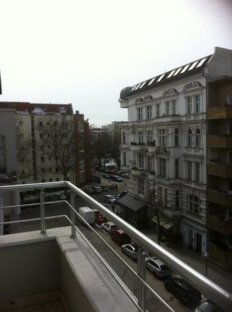 Quentin Design hotel: view from balcony