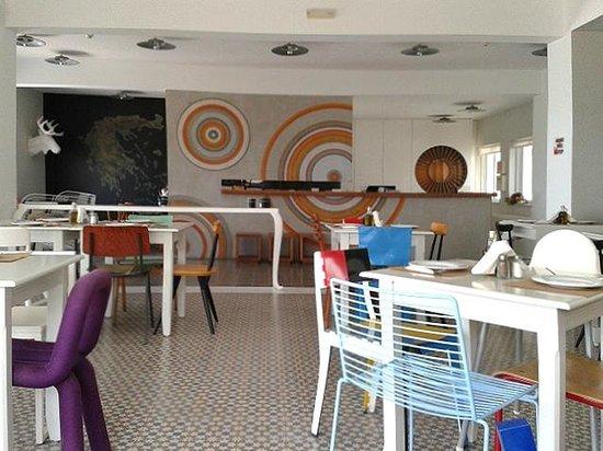 Ammos Hotel: Restaurant en receptie