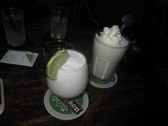 LimeLight Rooftop Lounge: Pina Colada & Vanilla Milkshake