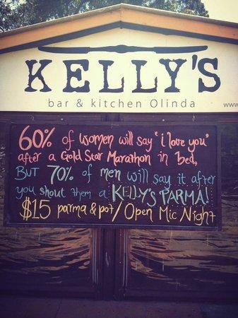 Kelly's Bar and Kitchen: Parma night at Kelly's