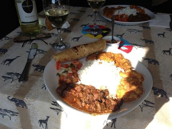 C & W's African Experience: Goat curry was delicious