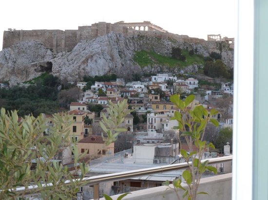Electra Palace Athens: great view from our balcony