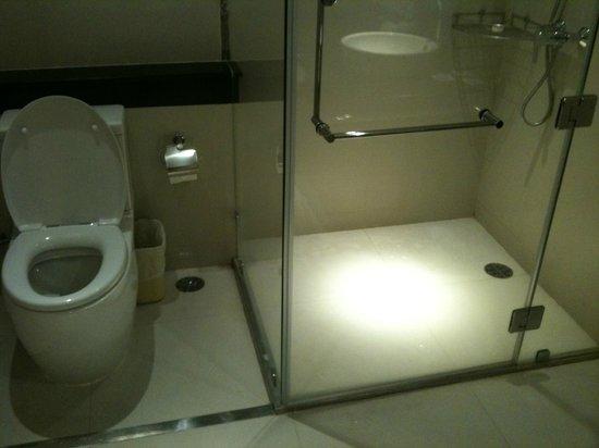 Viva Garden Serviced Residence: トイレとシャワーブース