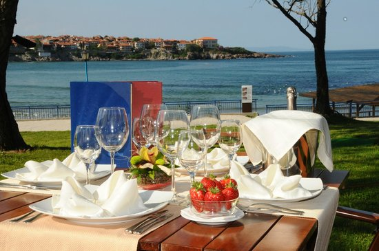Hotel Selena: fantastic sea view from the restaurant`s terrace