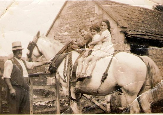 Church Farm Country Cottages: Great Grandfather Bowles at Church Farm in early 1900s