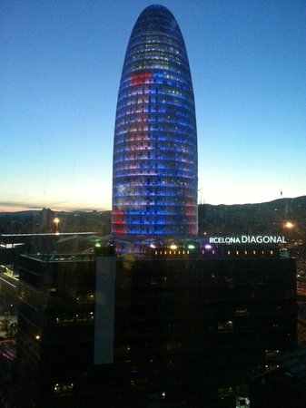 ‪‪Novotel Barcelona City‬: View from room 1515 Torre Agbar‬