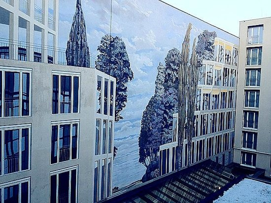 Relexa Hotel Stuttgarter Hof: The wall painting out side of my window