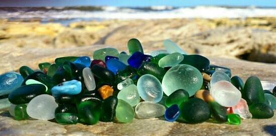 Durham, UK: seaglass from Seaham beach