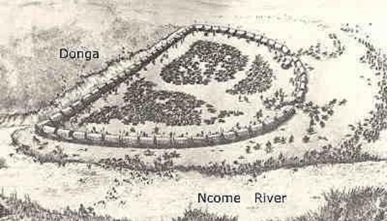 Blood River Heritage Site: Bronz wa-lager