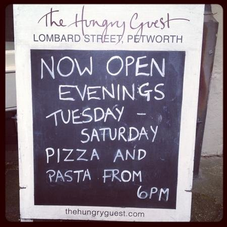 The Hungry Guest Cafe: my local Cafe now open for pizza's :)