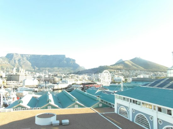 view from our room looking at Table Mountain