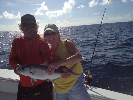 Capt Chris Morrison Fishing Charters: B and the first catch of the day
