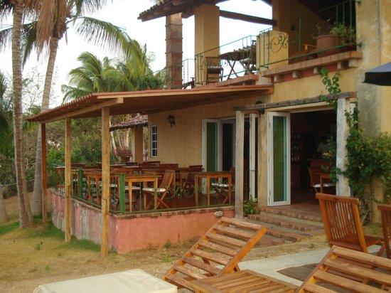 Hotel Villa Romana: il terrazzino della colazione