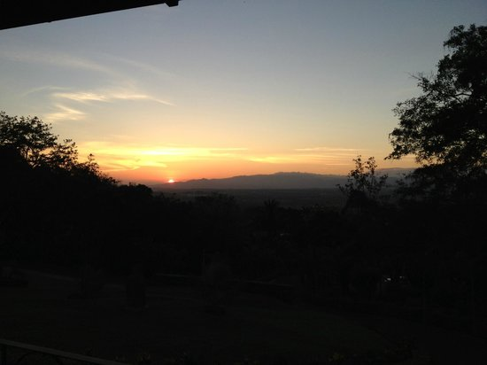 Ringle Resort Hotel & Spa: View of sunset in the evening off the veranda on the family suite