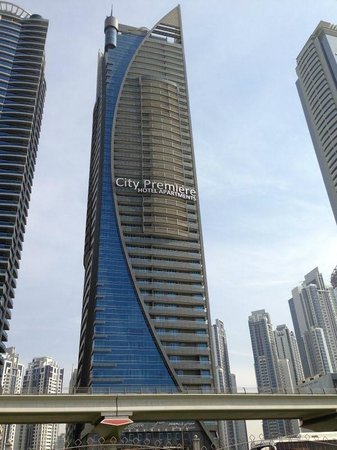 City Premiere Hotel Apartments : View from Sheikh Zayed Road