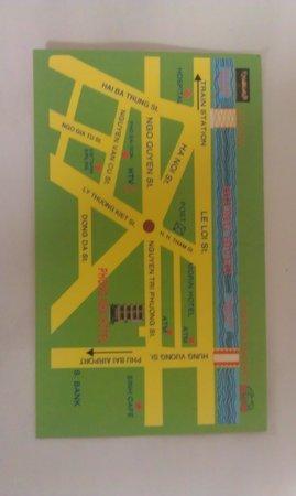 Phong Nha Hotel: Business card map