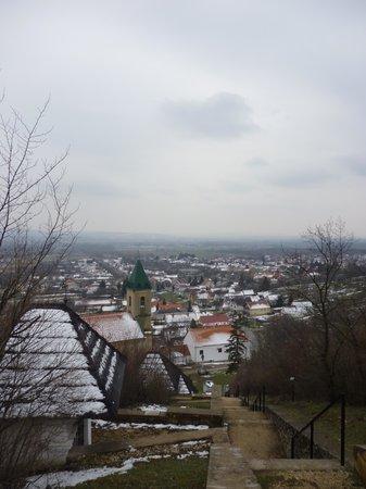 Magyarpolany, Hungary: From the peak of Calvary Hill