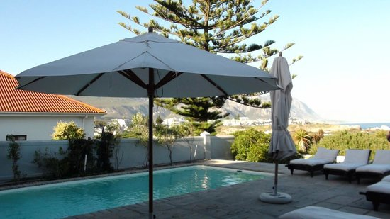 Ocean Eleven Guesthouse: Pool des Guesthouses am Abend