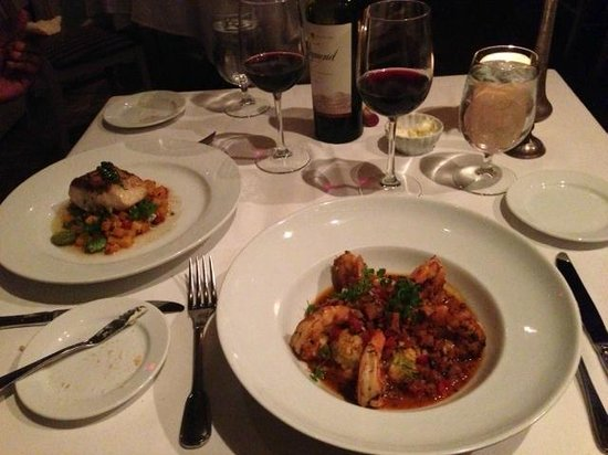 Restaurant Iris : The Sea Bass & The Shrimp & Grits