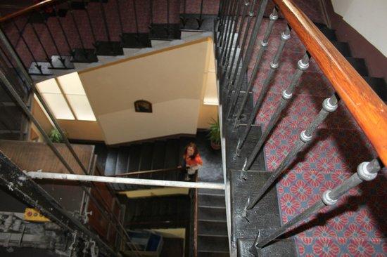 La Residenza: Staircase down