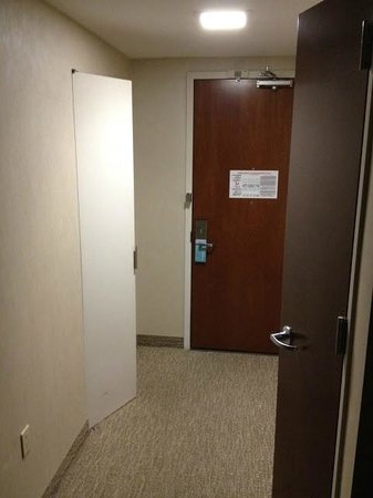 Hilton Garden Inn Times Square: left door is small closet, right door was ironing storage