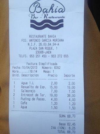 Bar Restaurante Bahia: la prueba