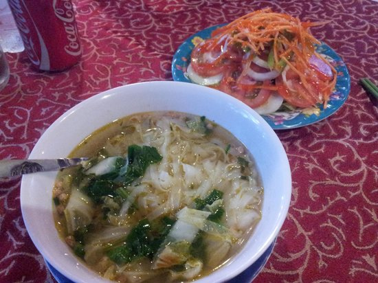 Vegetarian Pho Noodle Soup and Salad - Picture of Hoang Vu ...