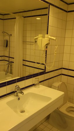 Clarion Hotel Gillet: A part of the bathroom