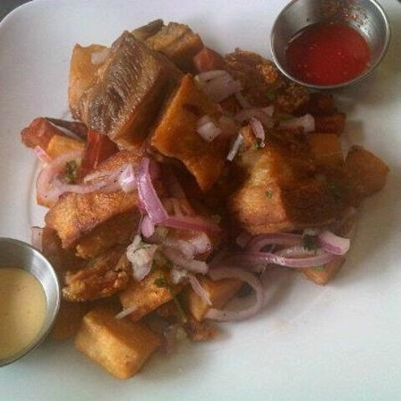Culantro Peruvian Cookery: Chicharron - fried pork belly (available as a Friday special)