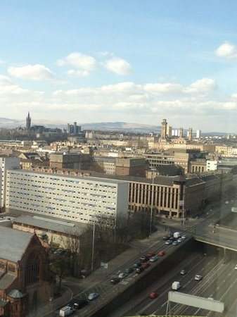 Hilton Glasgow: view from 18th floor